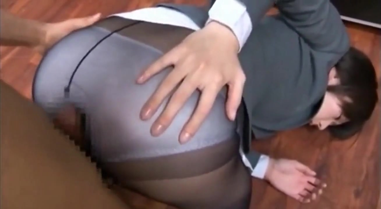 Blue nylon panties and pantyhose cumshot