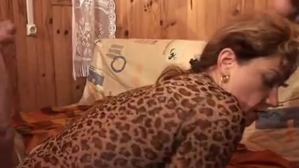 French mature in a hard anal 3some