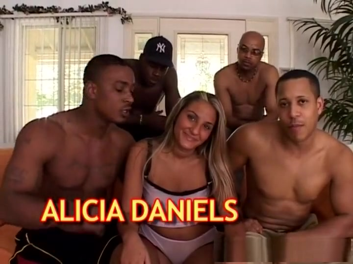 Best pornstar Alicia Daniels in horny gangbang, lingerie porn scene