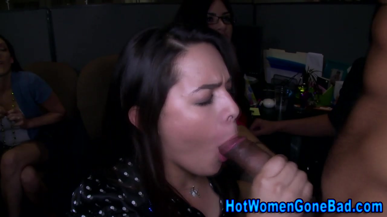 Clothed amateur hussy sucks black dick