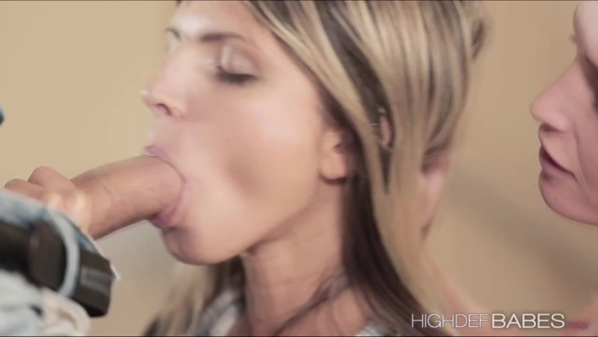 Bombshell Gina gets caught having a blowjob with Kathias bf