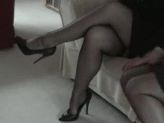 darksome fully fashioned nylon nylons leg and foot fetish