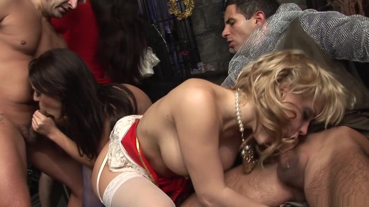 Hottest pornstars Valery Summer and Angelika Black in best fishnet, lingerie porn movie