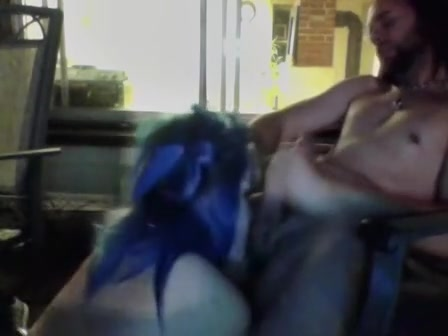 Emo immature goes nuts on hairy cock