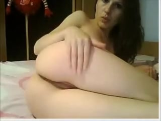 Beautiful 19 years old gal plays with herself