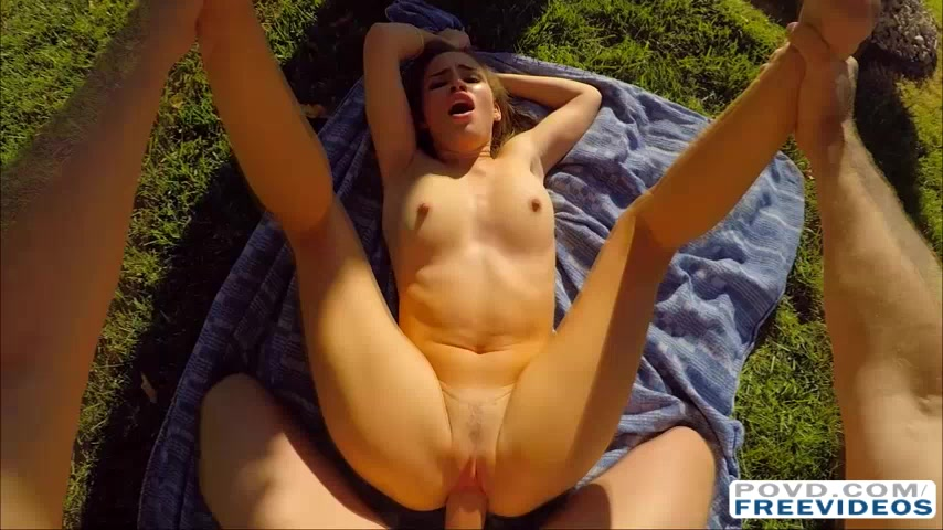 Natasha White outdoor sex filmed in POV style with 3D sound