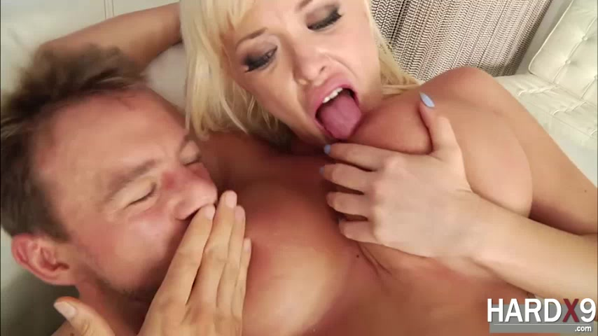 Huge tits blonde chick Summer gets banged by Erik with a huge cock