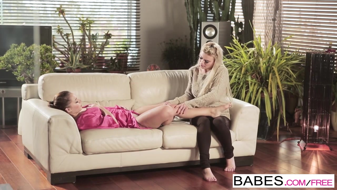 Babes - Step Mom Lessons - Afrodity and Jenny Glam and Grey - Working Up a Sweat