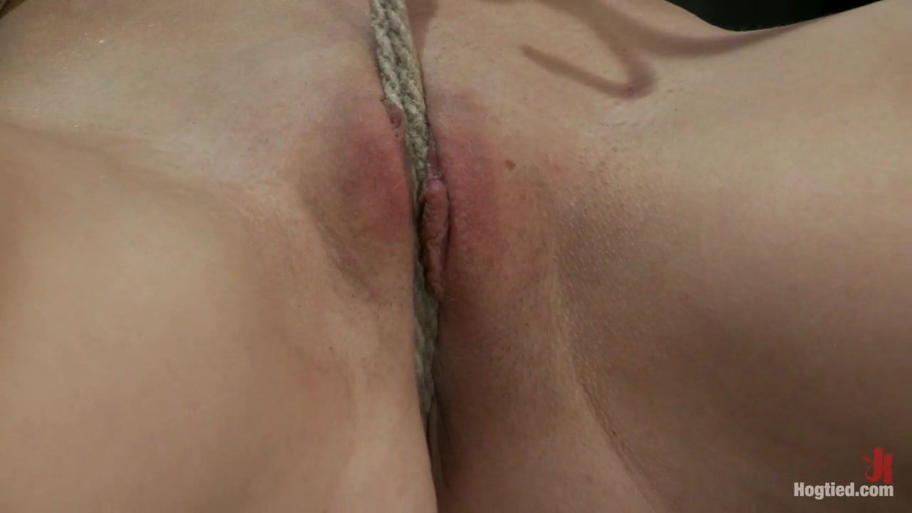 Little Emma Haize Severely Bound. Made To Cum Brutal Crotch Rope Pulls Her Off The Floor - HogTied