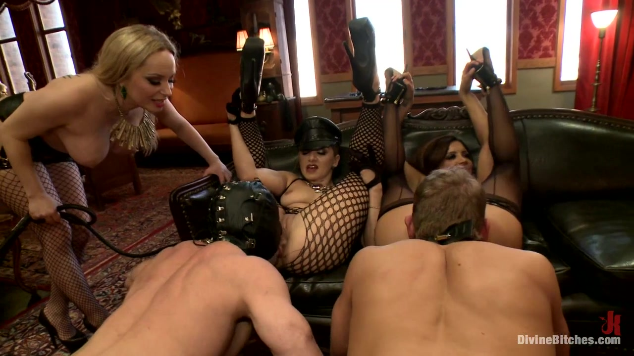 Aiden Starr & Sean Spurt & Francesca Le & Maitresse Madeline Marlowe in Caution: Extreme Femdom Humiliation Live Sissy/Bisexual Humiliation - DivineBitches
