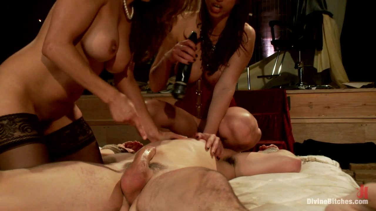 Tyler Alexander & Francesca Le & Nicki Hunter in Two Femdom Milfs Destroy 21 Year Old Slaveboy - DivineBitches