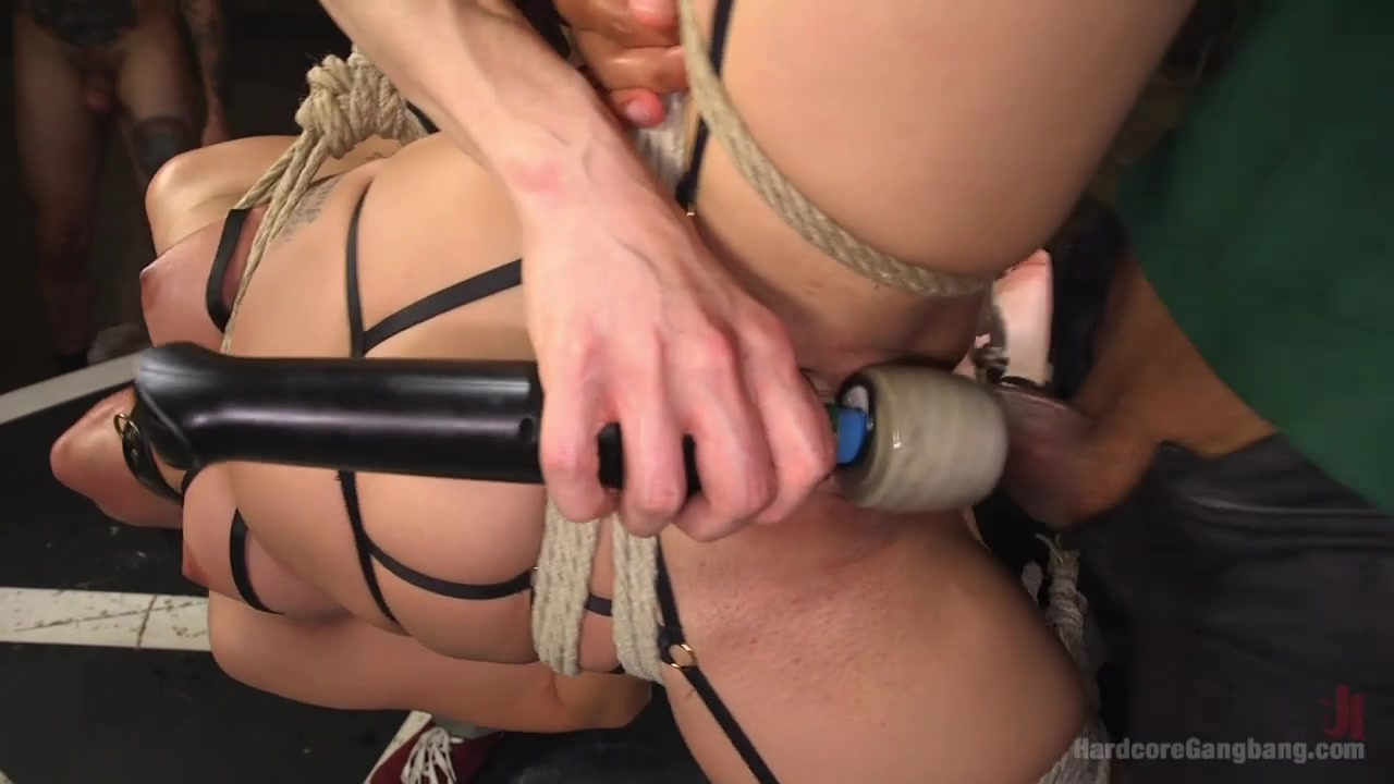 Screamer: Double Fucked Gangbang In Bondage And Full Suspension - HardcoreGangbang