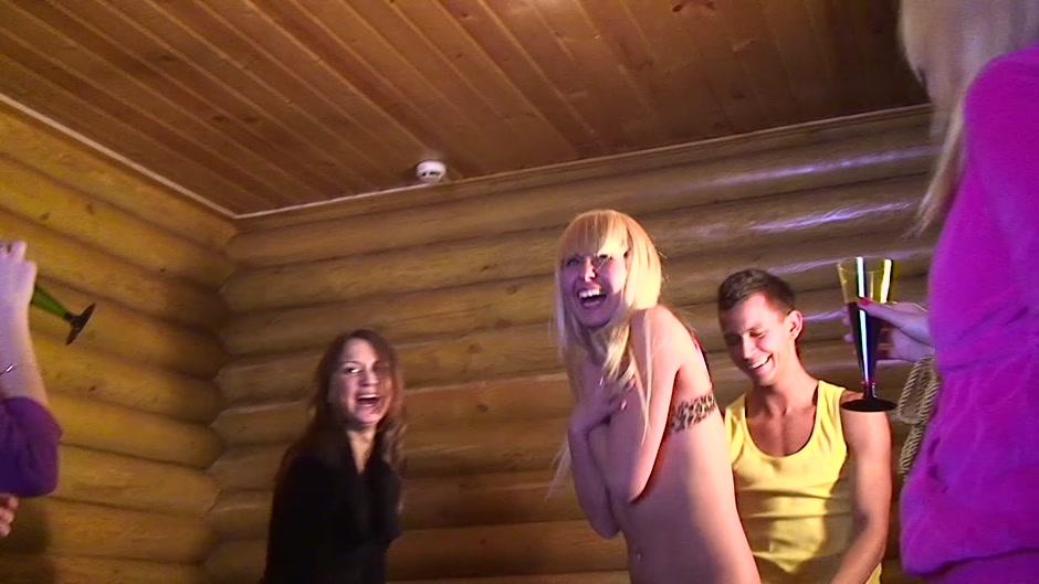 Alice Miller & Amelie Pure & Janet & Trinity in sexy student girl giving a beautiful blowjob