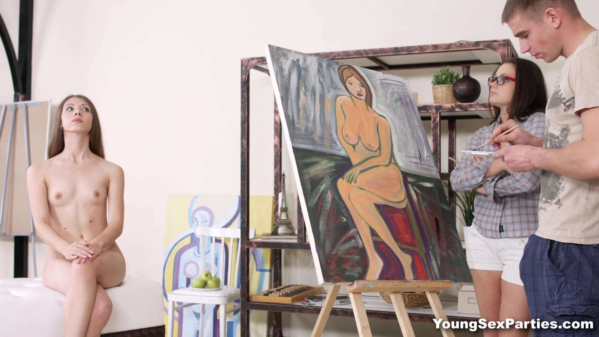 Порно про натурщиц и художников