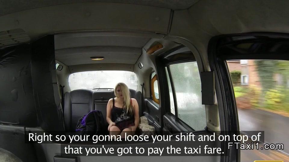 British blonde bbw anal banged in fake taxi