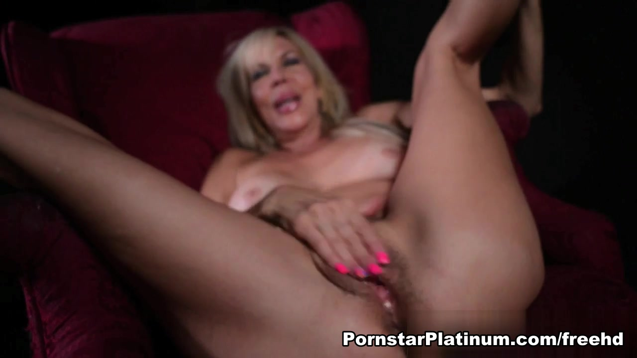 Erica Lauren in Red Chair Solo Action
