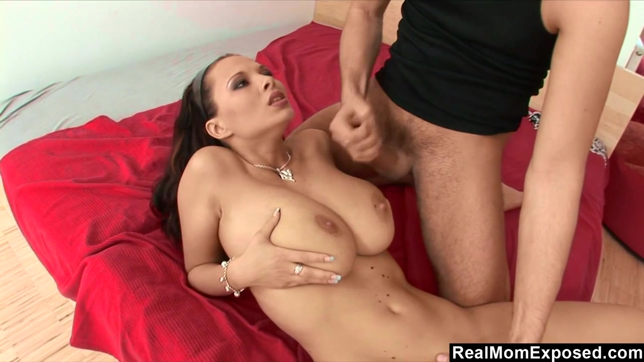 MILF with enormous tits given the good dick