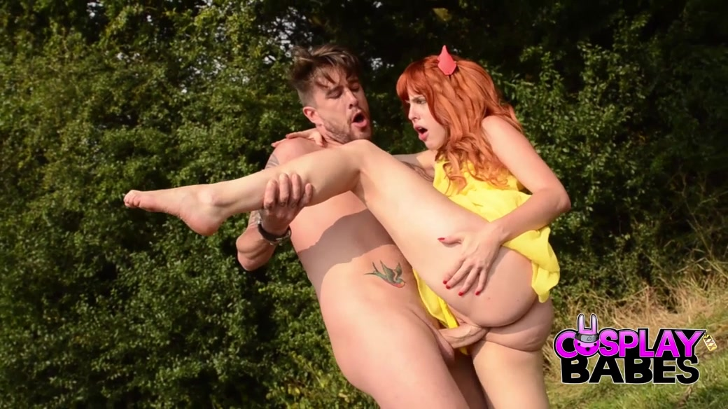 Amarna Miller & Luke Hotrod in Amarna Miller Public Outdoors Cosplay - CosplayBabes