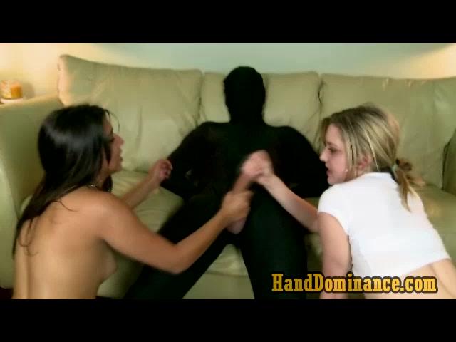 Bisex Femdom Teens Teasing Submissive Cock