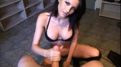 smoking brunette gives me a handjob and a head