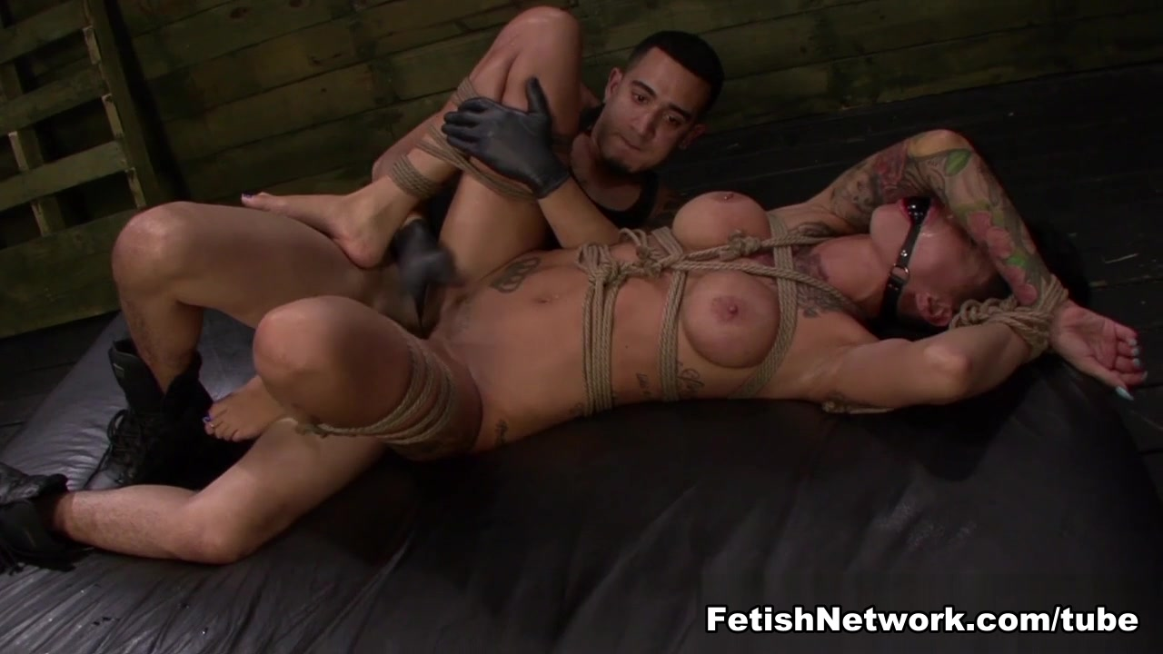 Alby Rydes Earns a Facial After Another Rough Slave Training in Rope Bondage