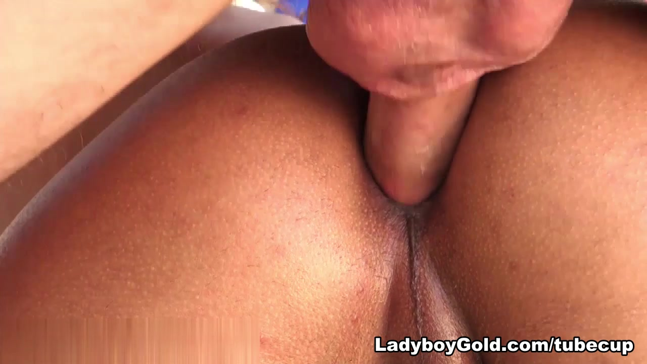 LadyboyGold Clip: Oiled Handjob and Bareback
