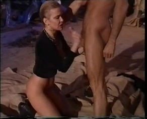 Anita Rinaldi having sex front of crowd of people